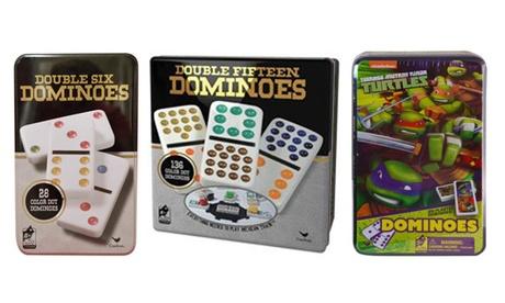 Dominos Game Set In Aluminum Case 48cf9f40-6416-4592-bece-97633f95efed
