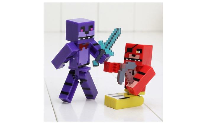 Minecraft Five Nights At Freddys Bonnie Chica Foxy Fazbear FNAF - Skins para minecraft pe bonnie
