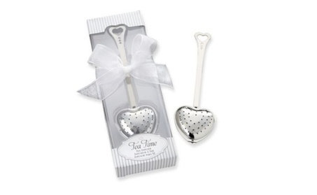 Tea Time Heart Tea Infuser In Elegant White Gift Box 68dc6ea0-08fb-4872-ba4e-801cc99a7205