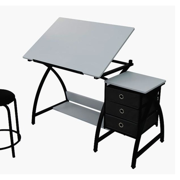 Strange Studio Comet Center With Stool Black White Bralicious Painted Fabric Chair Ideas Braliciousco