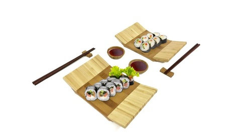 8pc Bamboo Sushi Set-Service for 2 09d1039c-10c5-4570-96a5-d01159e8c1e3