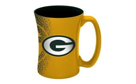 Green Bay Packers Coffee Mug - 14 oz Mocha ef4689a5-26a6-4778-85ab-f115fb23ea54