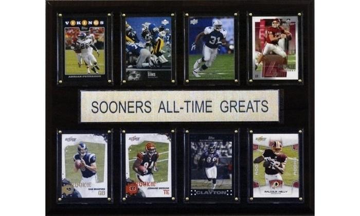 C I Collectables 1215atgsoon Ncaa Football Oklahoma Sooners All Time Greats Pl