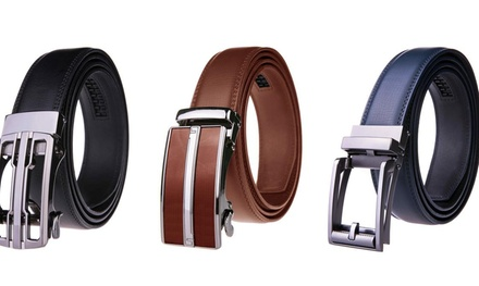 Men's Leather Ratchet Dress Belts- Buy 2 get 1 Free