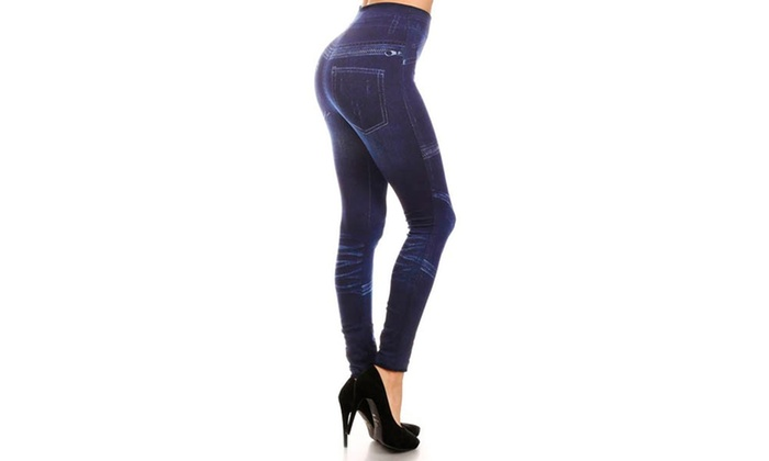 Lady's Jeggings With Zippers (Sublimation)