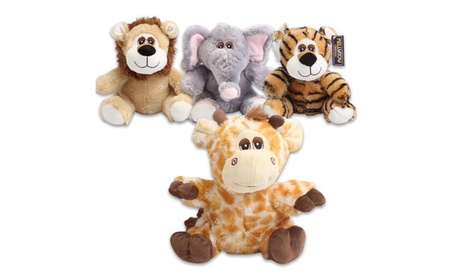 KellyToy Plush Jungle Animal 4 Pack d889e860-3555-4eb7-900e-6f1bf70c6e6a