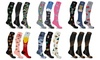 XTF Novelty Prints Collection Knee-High Compression Socks (3-Pairs)