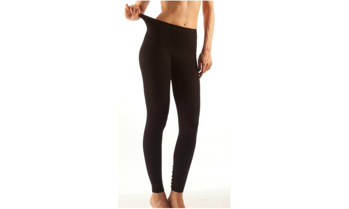 GABRIALLA Milk Fiber Massaging Anti-Microbial Leggings: LM-701