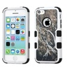 Insten Tuff Vines Hard Coated Silicone Case For Iphone 5c Yellow Black