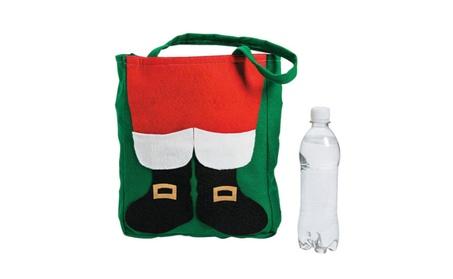 New Santa Claus Tote Bag Fuzzy Christmas Xmas Shopper Shopping Gift d85b7329-926a-4a5e-a7e7-ff6a8052e580