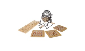 Deluxe Bingo Game with Accessories for Adults, Boys and Girls by Hey! Play!