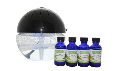 Earth Globe Glowing Water Based Air Washer and Revitalizer & Essential Oils photo
