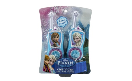 Disney Frozen Kid Designs Chill 'n' Chat FRS 2-Way Radios 15bad3a7-603a-4bda-9246-d5b120559d42