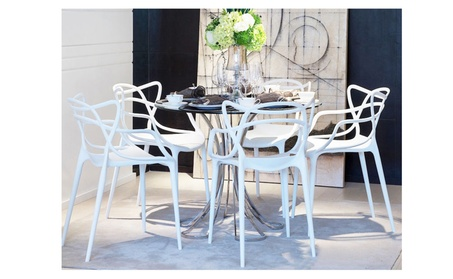 Loop Molded Plastic Indoor Outdoor Dining Chair 833f80e6-085d-464d-a462-e47a6518c0ce