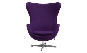Flash Furniture Wool Fabric Egg Chair With Tilt Lock Mechanism