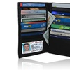 AFONiE Durable Genuine Leather Men's Credit Card Holders Wallet