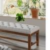 Ainsley Walnut-Finished Wood Bench