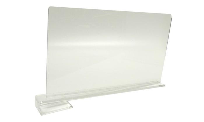 Closetmate Beautiful Acrylic Shelf Dividers Closet Shelves Pack Of 2