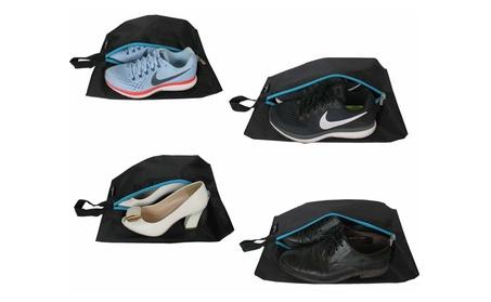 Travel Shoe Bags Set of 4 Waterproof Nylon With Zipper For Men & Women