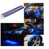 Blue 4pc 30cm led car motors truck flexible strip light waterproof 12V