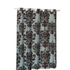 EZ-ON Beacon Hill Polyester Shower Curtain in Chocolate on Spa Blue