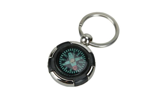 Mini Portable Keychain Ring Precise Compass Metal Plastic Accurate