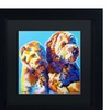 DawgArt 'Max and Maggie' Matted Black Framed Art