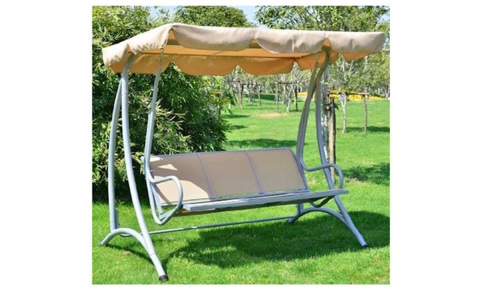 Superb Outdoor Patio Swing Bench With Frame