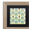 Jennifer Nilsson 'Blue Daisy' Matted Birch Framed Art