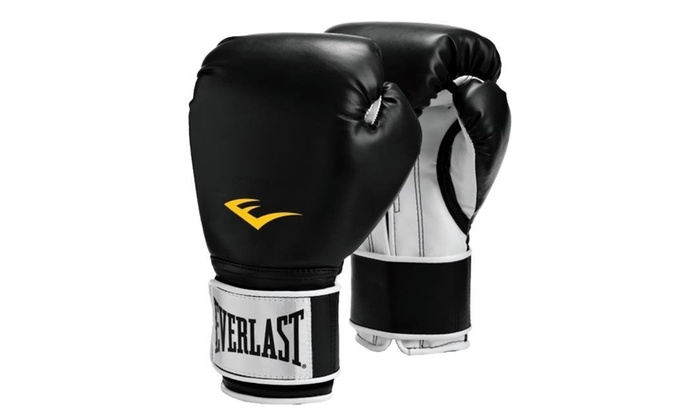 519666292 Everlast 1281835 Pro Style Boxing Gloves Black - 16 oz Multi-color