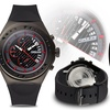 Force One Venture Chronograph Mens Watch Black/Black/Black/Red
