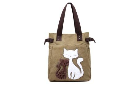 Cartoon Emboised Canvas Handbag cc079127-f580-43e4-aee1-14be011246fb