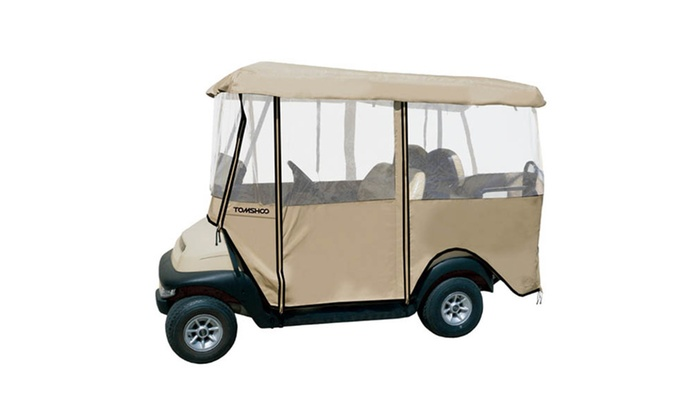 TOMSHOO Golf Cart 4-Sided Enclosure Club Car Cover