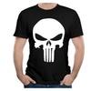 New Way 216 - Men's Sleeveless The Punisher Skull T-shirts Black
