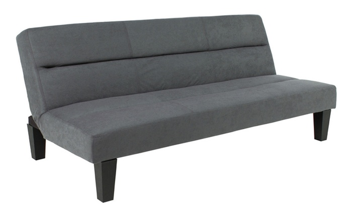 Excellent Up To 48 Off On Microfiber Futon Folding Couc Groupon Creativecarmelina Interior Chair Design Creativecarmelinacom