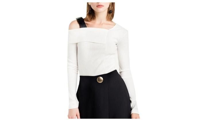 Women's Straight Hem Solid Slim Fit Fashion Simple Pullovers