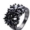 Elegant Purple Black Gold Color Design Unique Ring for Women