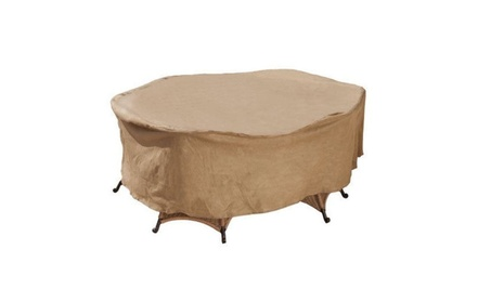 "Budge P5a13sf1-n Oval Or Rectangular Patio Set Cover, 112"" X 84"" X 30 e0c36892-2256-4b61-a62f-56894d5e73f0"