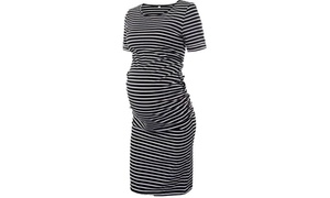 772d7378f5fc0 Women's Maternity Bodycon Ruched Side Dress Casual Short