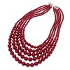 Multi layers Simulated Pearl Chain Statement Necklaces