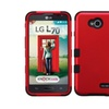 Insten Titanium Red/black Hard Hybrid Case For Lg Optimus L70 Exceed 2