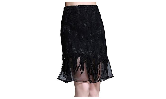 Women's Asymmetric Hem HiddenZipper Casual Mermaid Skirts