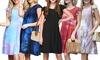 Doublju Women's Ruffle Cap Sleeve Flare Mini Dress