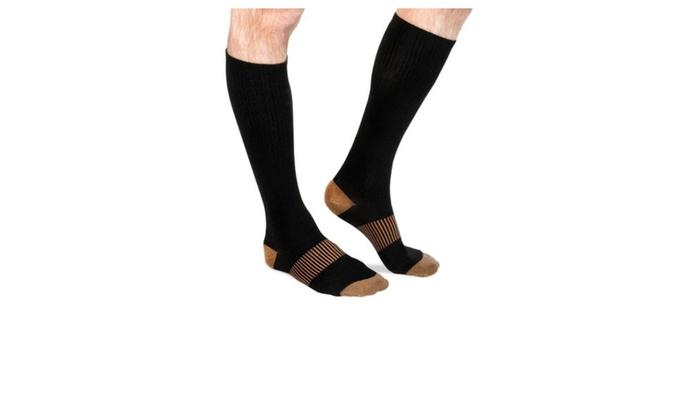 c47f7bebd3 Effective Leg and Feet Swelling Copper Compression Socks   Groupon