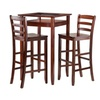 Halo 3pc Pub Table Set with 2 Ladder Back Stools