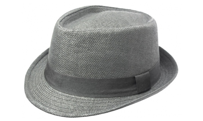 Sakkas Unisex Structured 100% Paper Straw Ribbon Band Fedora Hat