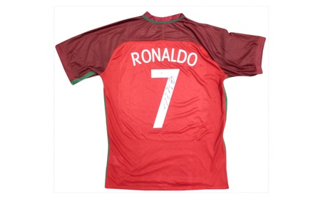 Autographed Cristiano Ronaldo Portugal Red Authentic Nike Jersey 8a203fca-8827-4274-9583-07d6122d8468