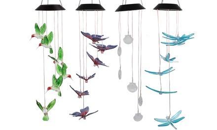 LED Solar Hummingbird Wind Chime Waterproof Wind Chimes