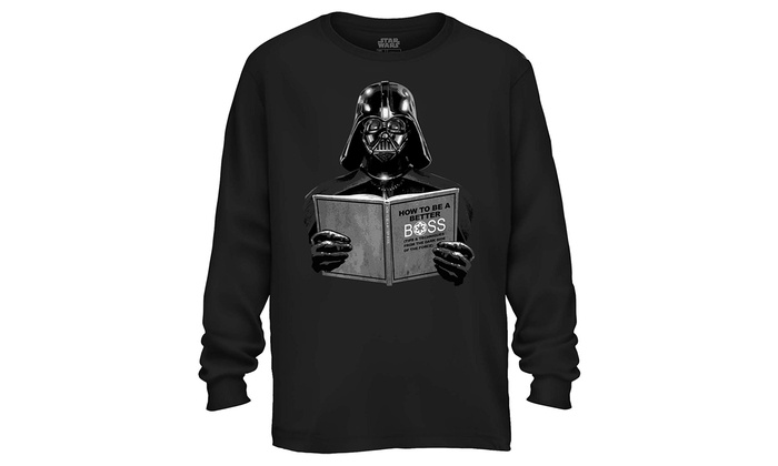 c82aa6a9 Star Wars Darth Vader Dark Side Empire Funny Humor Pun Adult Men's Graphic  Long