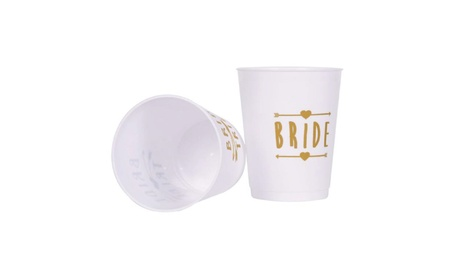 Bride and Bride Tribe Cups White- (12 Pack) d3c683bc-0401-4566-aae0-2dafeb8d7118
